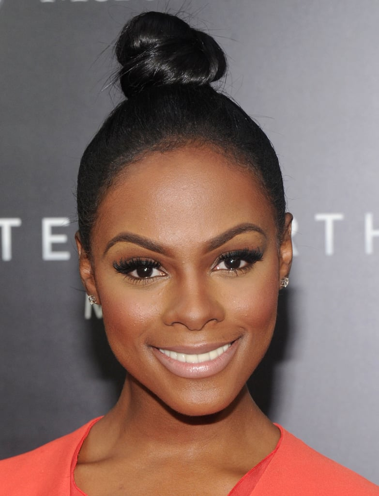 Wearing the go-to hairstyle of Summer, the topknot, Tika Sumpter proved it can be a chic and polished option.