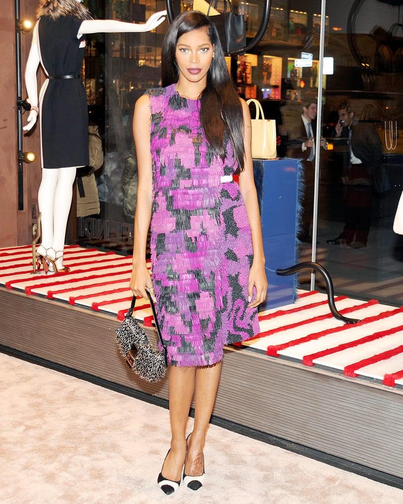 Jessica White in Fendi at Vogue's Fendi Buggies launch.