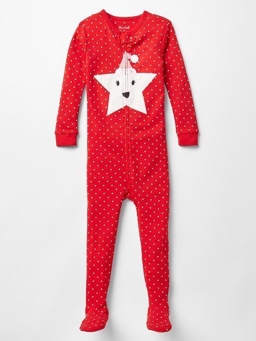 Gap Festive Star Footed Pajamas
