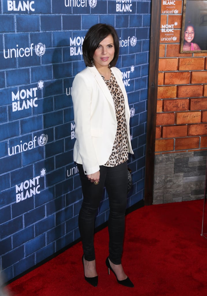 Lana Parrilla went for a casual look.