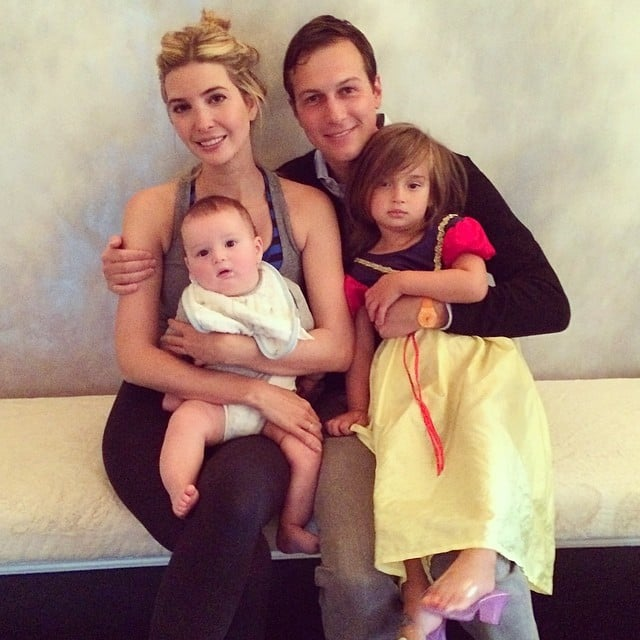 Ivanka Trump and Jared Kushner took a quick family photo with Arabella and Joseph. Source: Instagram user ivankatrump