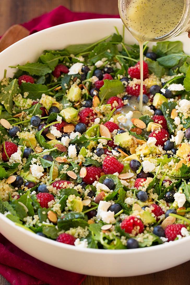 Berry Avocado Quinoa and Kale Salad