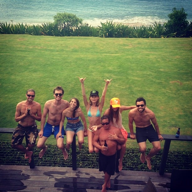 Behati Prinsloo slipped into a bikini to hang with friends by the beach. Source: Instagram user behatiiprinsloo