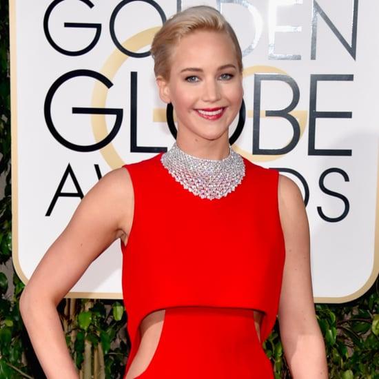 Jennifer Lawrence and Matt Damon at Golden Globes 2016
