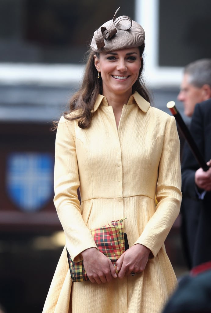 Kate Middleton wore a yellow Emilia Wickstead for the Thistle Ceremony in Edinburgh.