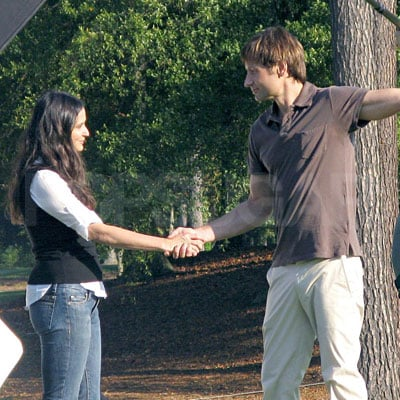 Demi Moore and David Duchovny Film The Joneses