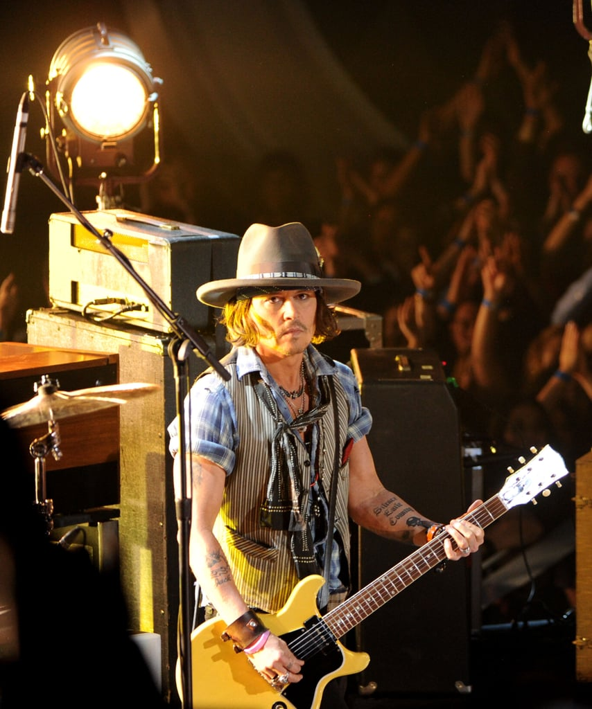 Johnny Depp played the guitar.