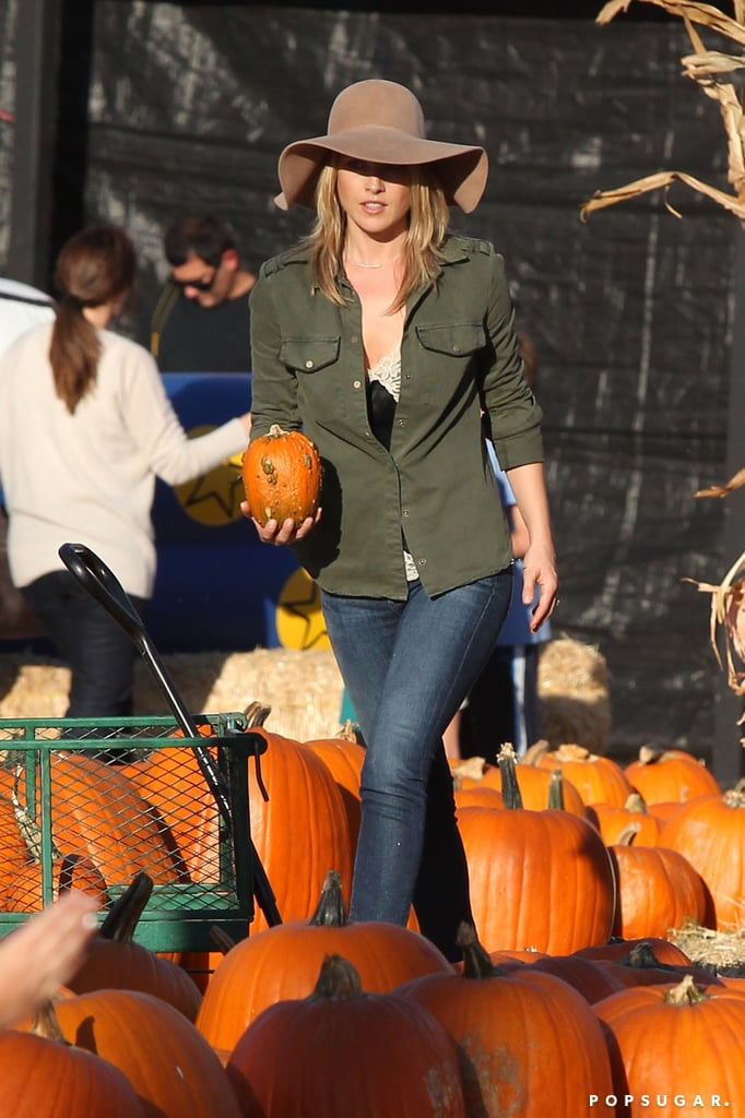 Ali Larter visited a patch in LA with her family.