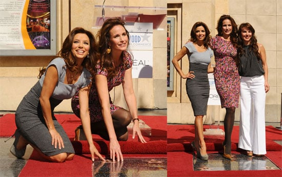 Photos of Eva Longoria and Andie MacDowell At Walk of Fame in Hollywood