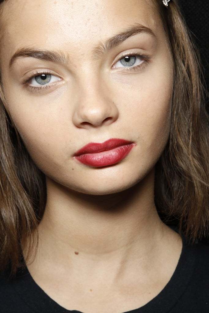 Berry Lips at Burberry Prorsum for Spring 2013 London Fashion Week