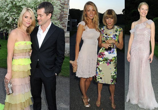 Pictures of Gwyneth Paltrow, Claire Danes, Hugh Dancy and Blake Lively at PFW Valentio Dinner in Paris