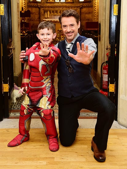 Robert Downey Jr. Poses With Young Iron Man Fan at Children's Hospital Ahead of Captain America Premiere