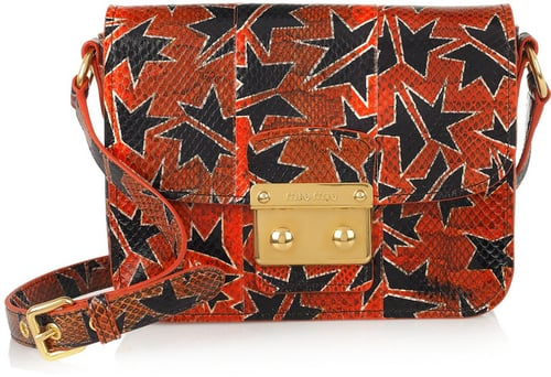 Miu Miu Hand-painted watersnake shoulder bag
