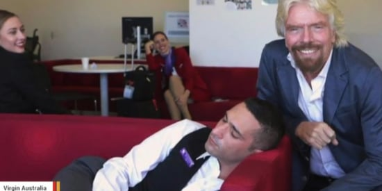 What Richard Branson Had To Say After Catching A Napping Employee
