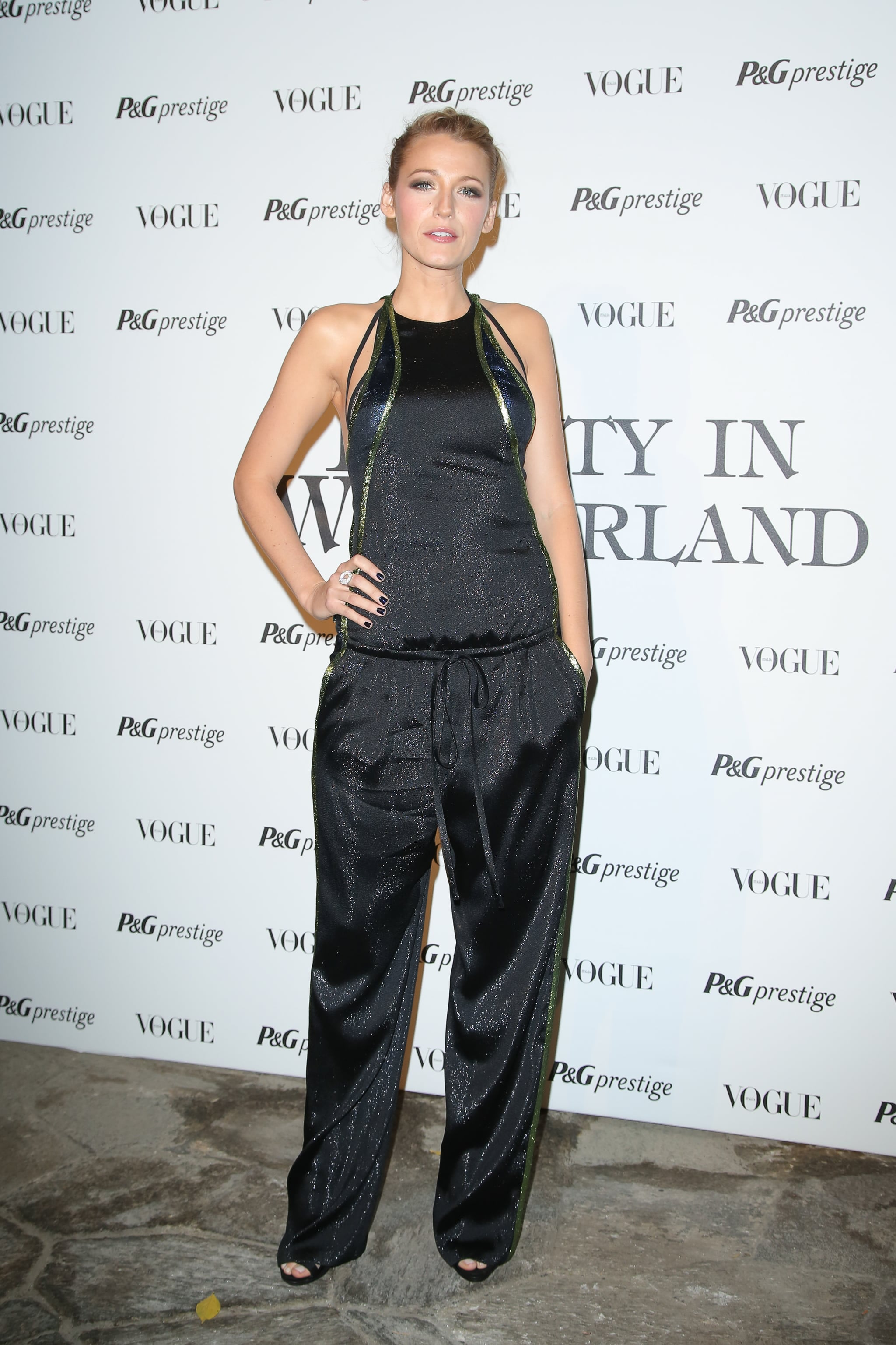 Blake Lively wore a Gucci jumpsuit on Thursday.