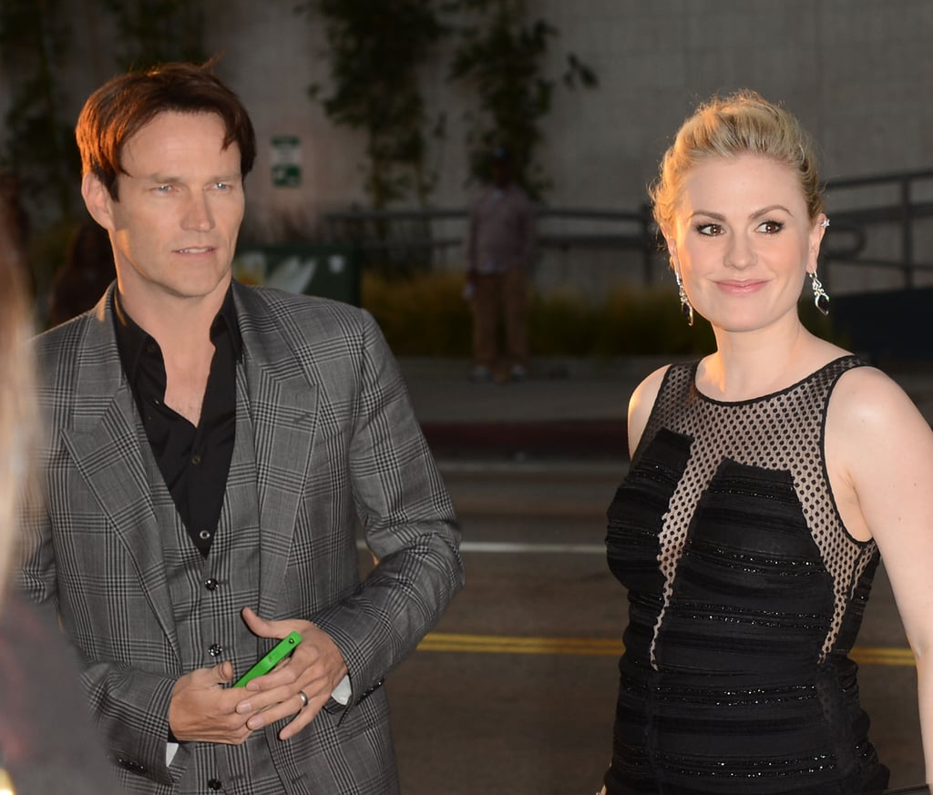 Anna Paquin was glowing as she arrived at the premiere with Stephen Moyer.