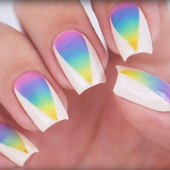 Rainbow Ombre Nail Art Tutorial