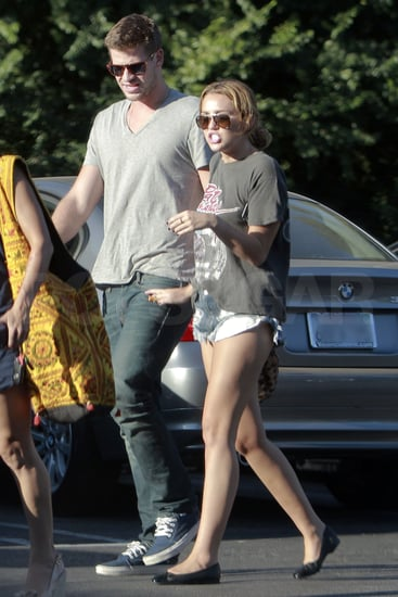 Miley and Liam enjoyed the sunny afternoon.