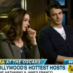Video: James Franco Gets Anne Hathaway to Reveal Her Baby Plans on GMA!
