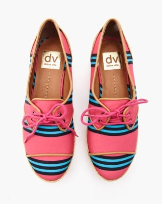 You're bound to have endless Summer fun in these DV by Dolce Vita striped Manx canvas oxfords ($78).