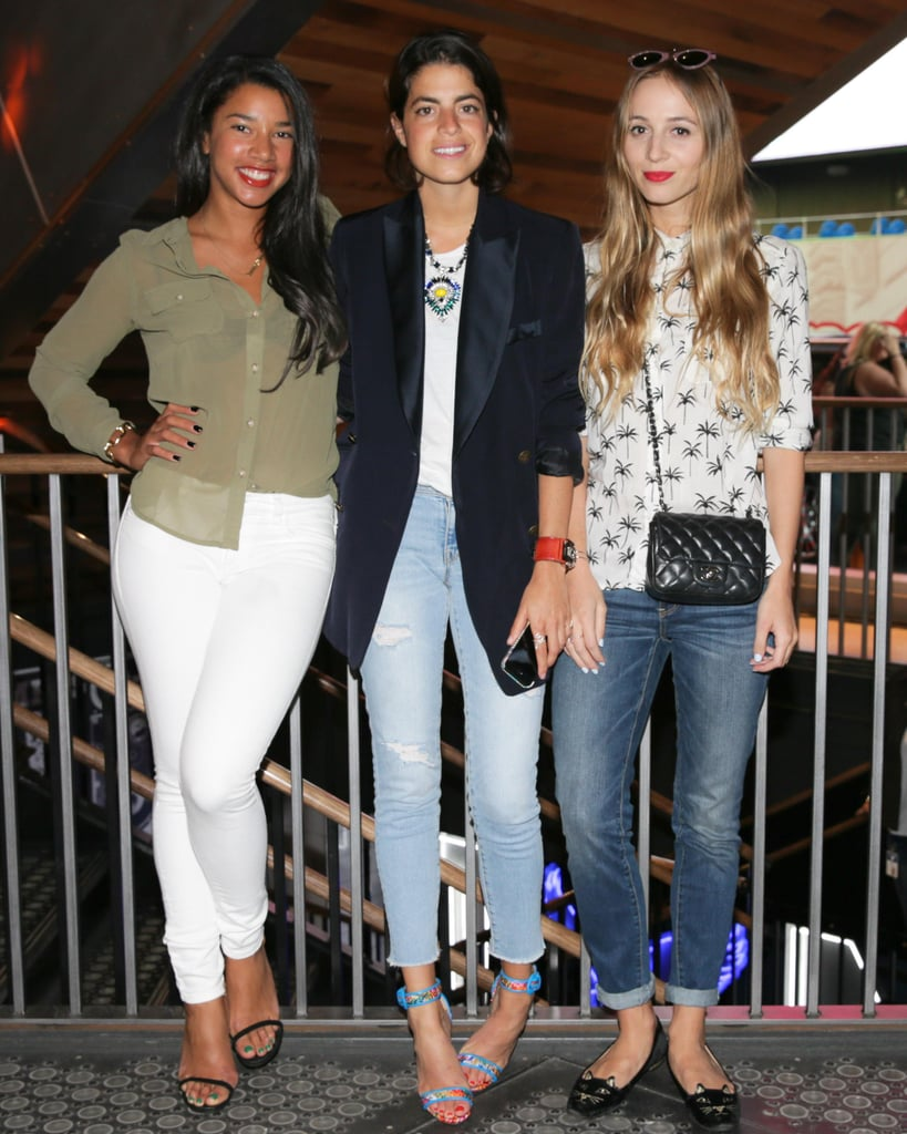 Hannah Bronfman, Leandra Medine, and Harley Viera-Newton kicked off the American Eagle Rock Your Walk campaign at the label's Times Square store.