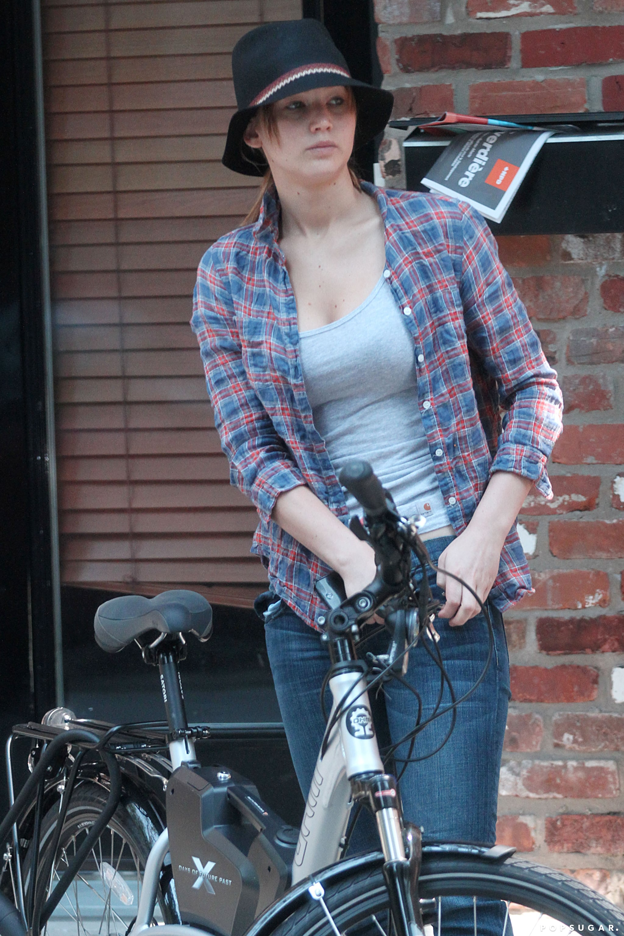 While in Montreal in August, Jennifer Lawrence took a leisurely bike ride around the city.