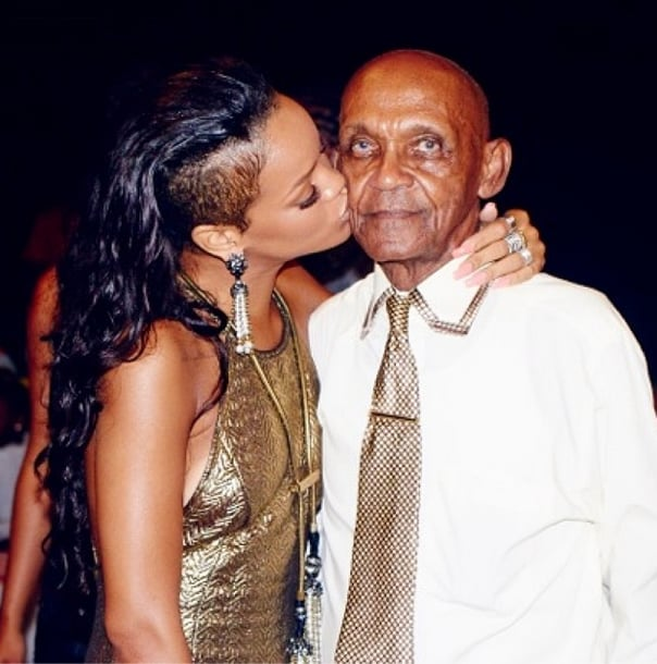 Rihanna really dressed for the occasion when throwing her grandfather a birthday party. Source: Instagram user badgalriri