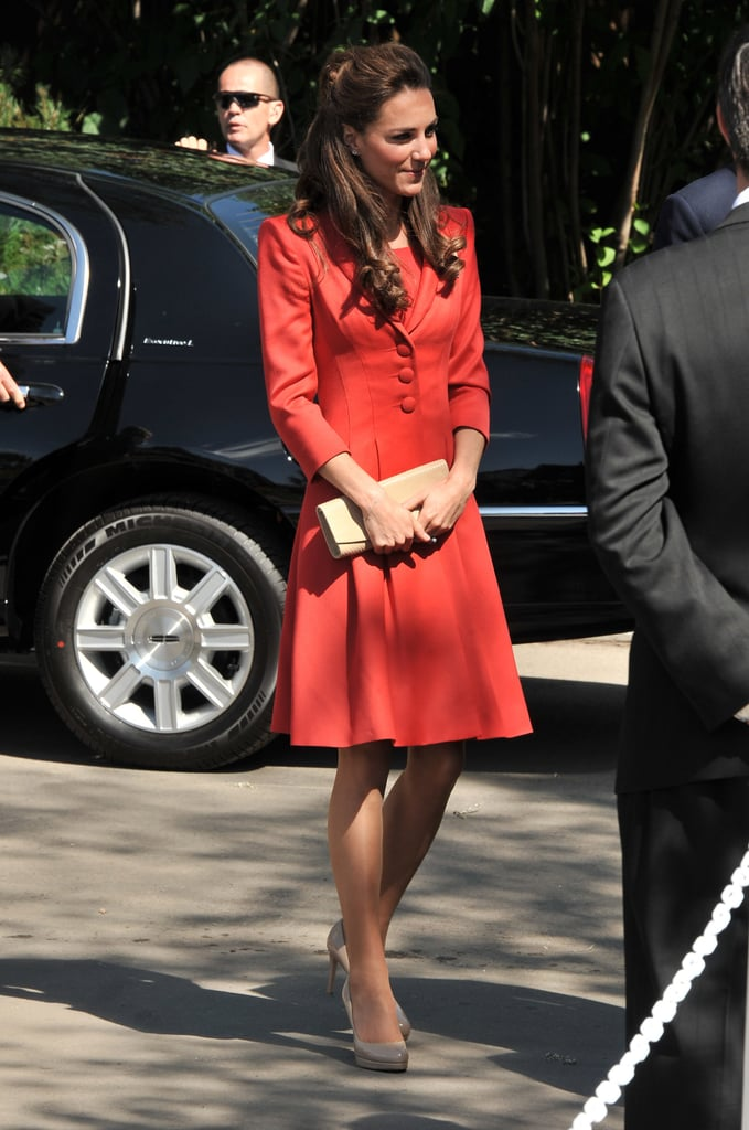 Kate Middleton made her way out of Canada.