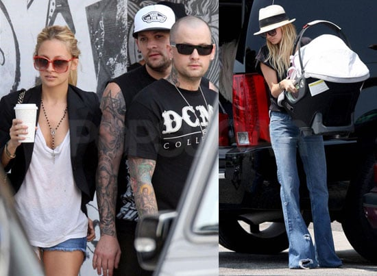 Photos of Nicole Richie and Joel Madden Out in LA with Harlow Madden, Robin Madden and Benji Madden