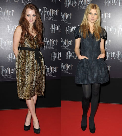 Pictures of Evanna Lynch, Clemence Poesy, Oliver Phelps, James Phelps at Harry Potter and the Deathly Hallows France Premiere