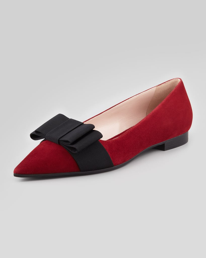 Stylish shoes that your mom will approve of? Look no further than these prim and proper Miu Miu bow-topped pretties ($595).