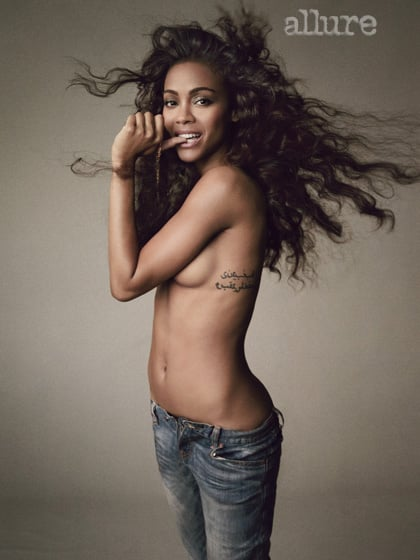 """Zoe Saldana on Her Sexuality: """"I Might End Up With a Woman"""""""