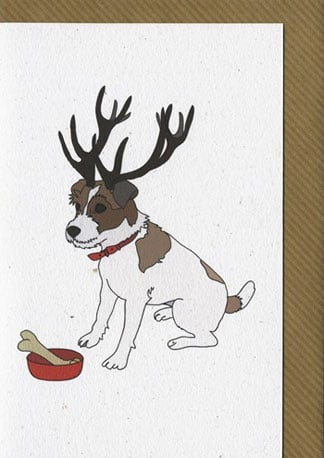 How sweet is this Illustrated Deer Jack Russell Blank Card ($2.60)?