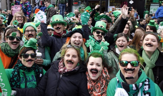 Dublin revelers sported mustaches and plenty of green.