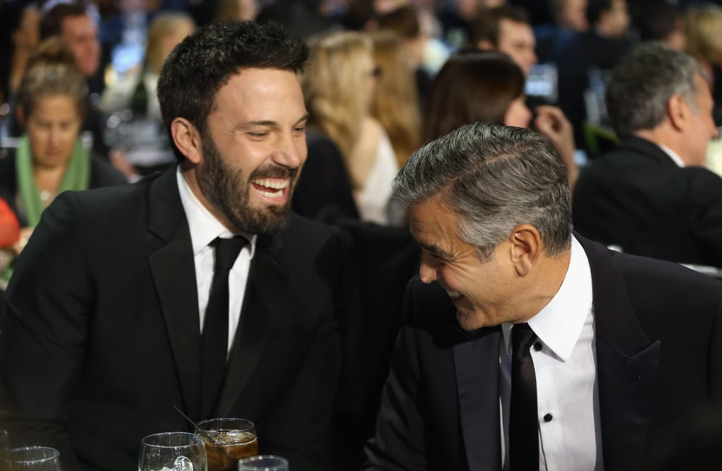 Ben Affleck cracked up with George Clooney at the Critics' Choice Awards, where they shared a table.