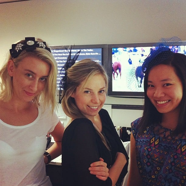 The Sugar team does fascinators! Alison, Ali and Jess get races ready.