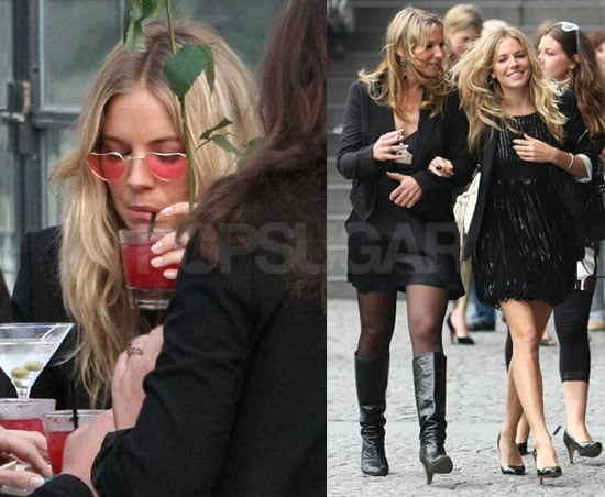 Photos of Sienna Miller with Friends at a Bachelorette Lunch in Paris