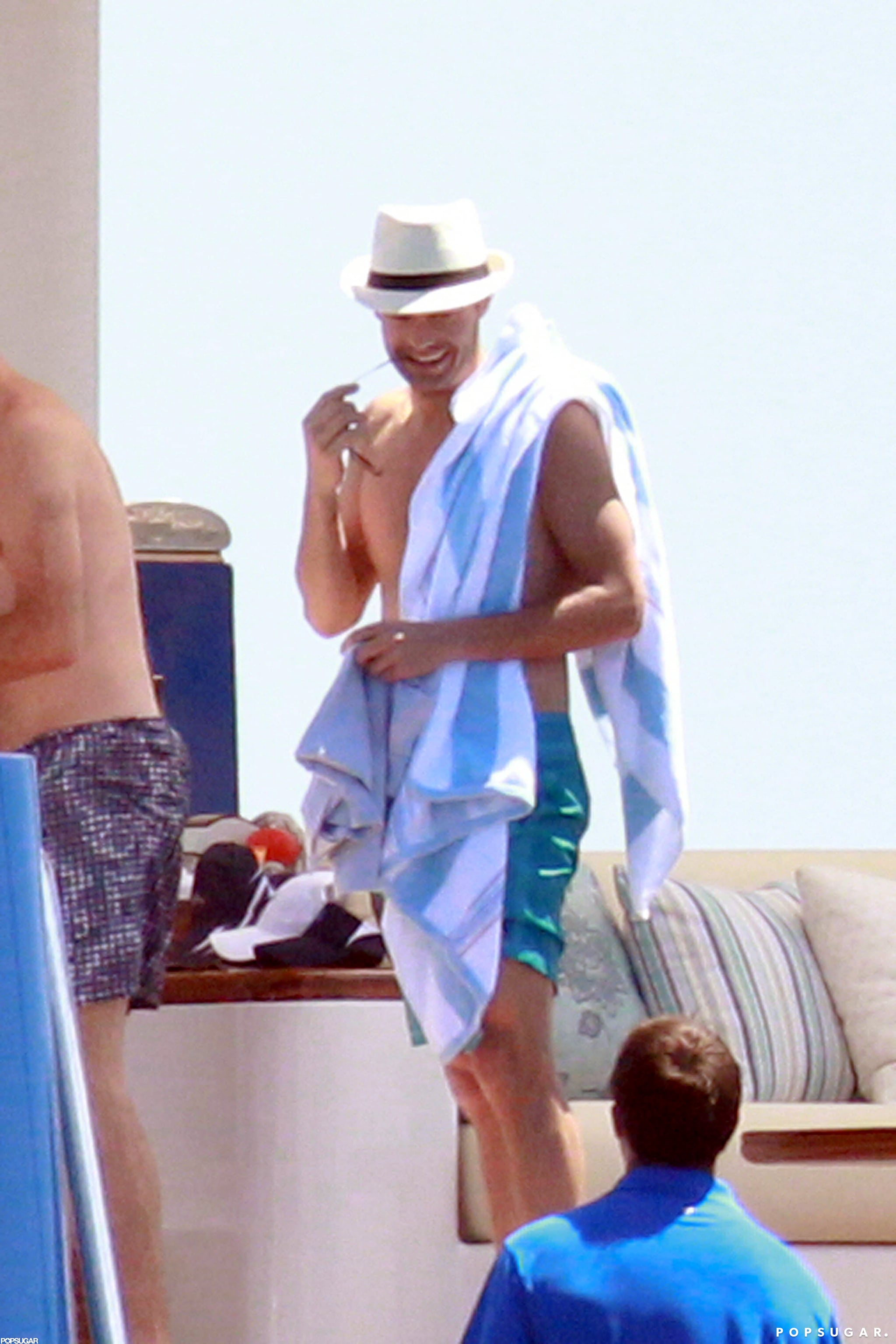 In June 2012, Ryan Seacrest traveled to St.-Tropez with friends.