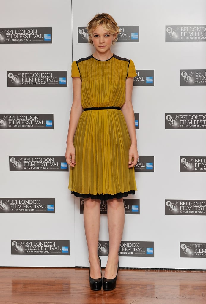 Carey Mulligan in Proenza Schouler at a 2010 Never Let Me Go Photocall in London