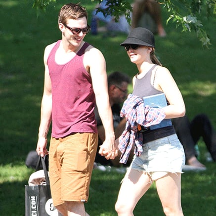 Jennifer Lawrence and Nicholas Hoult at the Park | GIFs