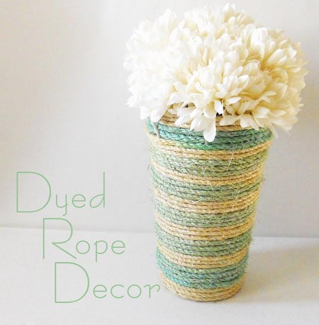 Dyed Rope Vase