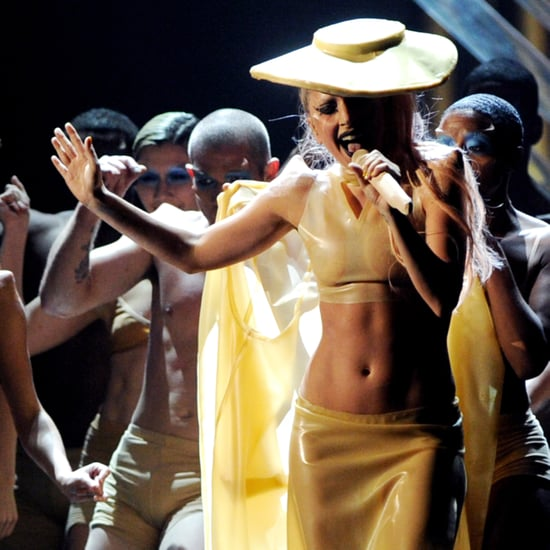 Pictures of Lady Gaga's Abs at the 2011 Grammys