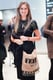 Lauren Bush Bauren accessorized her LBD with her charitable tote at the Hearst Magazine Unbound Access event.