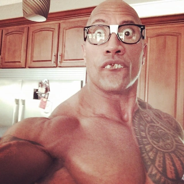 The Rock snapped this interesting selfie. Source: Instagram user therock