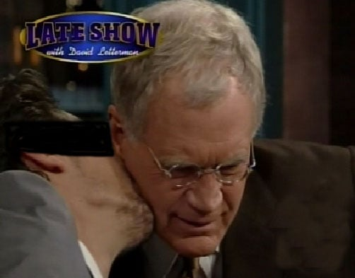 Guess Who Is Kissing David Letterman?