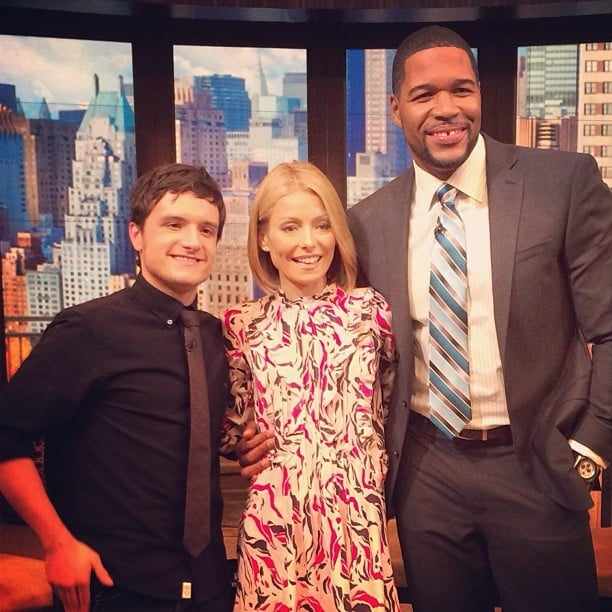 Josh Hutcherson made an appearance on Live! With Kelly and Michael. Source: Instagram user kellyandmichael