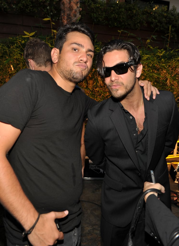 Frankie Delgado and Justin Bobby buddied up at a July 2010 party in LA.