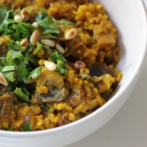 Mushroom Pilaf Recipe to Help Debloat | POPSUGAR Fitness Australia