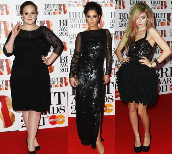 Celebrity Red Carpet Pictures From The Brit Awards 2011 All the Dresses Including Cheryl Cole, Adele, Avril Lavigne, Rihanna