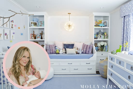 Steal the Look: Molly Sims's Eclectic Blue Room For Baby Brooks